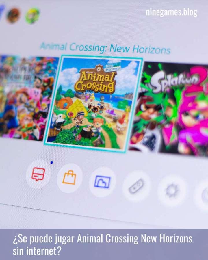 Animal Crossing New Horizons en la casilla de selección del menú de la Switch